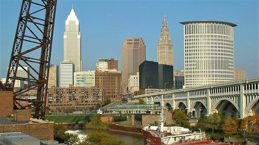 View of Downtown Cleveland Skyline, taken from the Superior Viaduct. Credit: Wikimedia Commons.