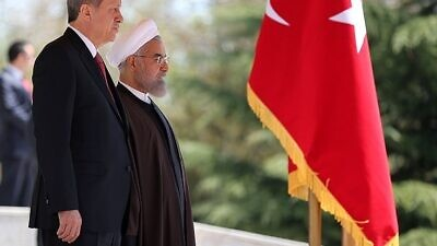 Turkish President Recep Tayyip Erdogan and Iranian President Hassan Rouhani. Credit: Wikimedia Commons.
