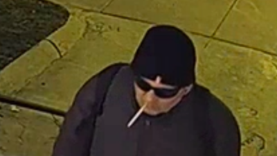 The Brookline Police Department is looking for this man they say vandalized the Chabad Israeli Center of Brookline, Mass. Source: Screenshot.