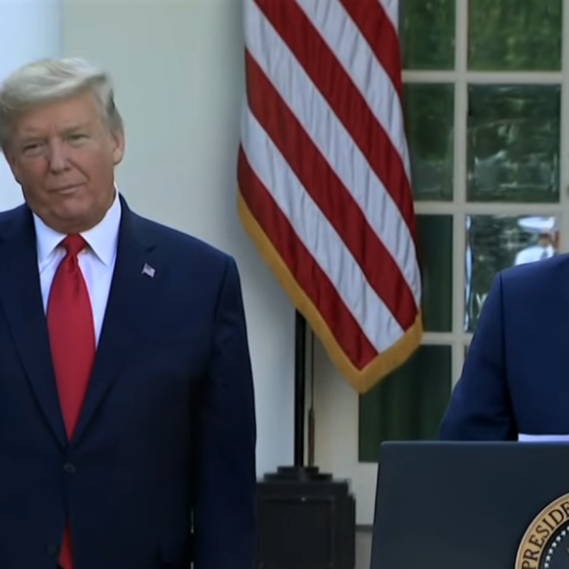 At a White House press briefing on the coronavirus pandemic task force, MyPillow CEO Michael Lindell spoke about his company's production of 10,000 face masks to go to health-care workers, March 30, 2020. Source: Screenshot.