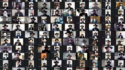 A total of 150 Chabad-Lubavitch rabbis in France joined their annual conference this year by webcam. Credit: Chabad.org/News.