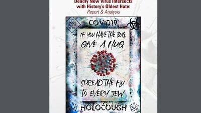 """The Simon Wiesenthal Center's new study """"Deadly New Virus Intersects with History's Oldest Hate: Report and Analysis,"""" released in April, highlights anti-Semitism on social media during the coronavirus pandemic. Source: Screenshot."""