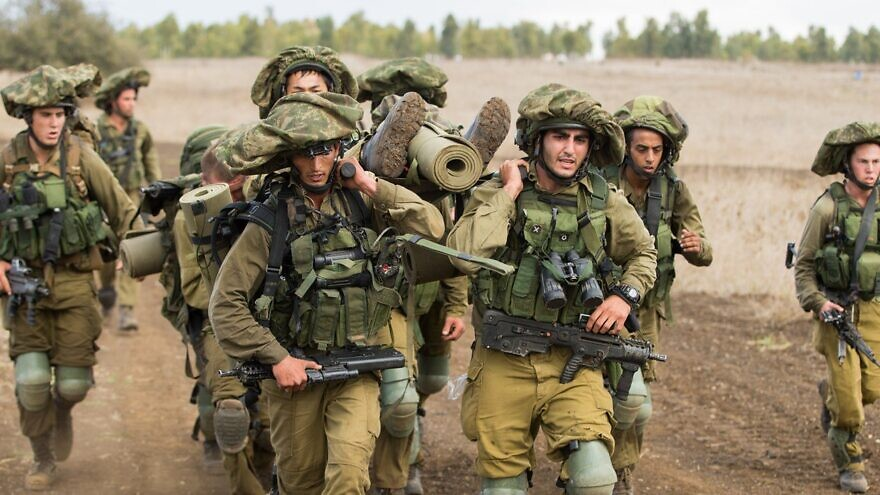 Israeli soldiers take part in a training exercise. Credit: Israel Defense Forces.