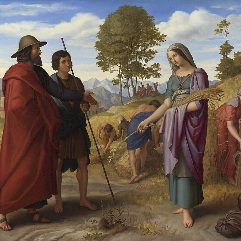 The biblical Ruth in Boaz's Field by Julius Schnorr von Carolsfeld. Credit: Wikimedia Commons.