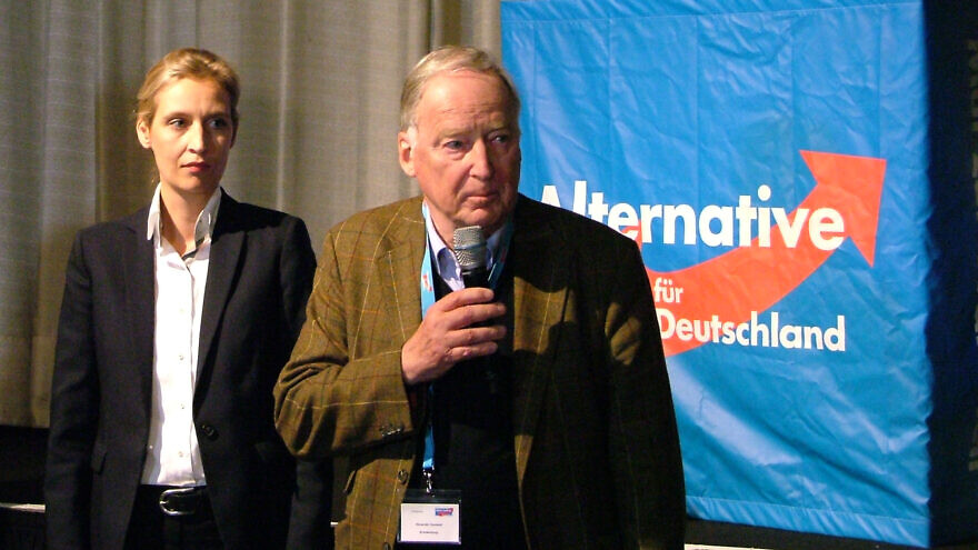 Alexander Gauland, who leads the parliamentary group of the far-right Alternative for Germany (AfD) Party. Credit: Wikimedia Commons.