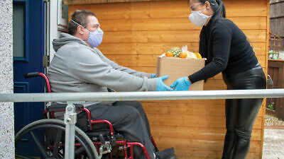 """Yuval Wagner, founder and president of Access Israel, says """"it is difficult time for us all, but for people with disabilities who are at risk and alone at their homes, it's unbearable."""" Source: Access Israel via Facebook."""