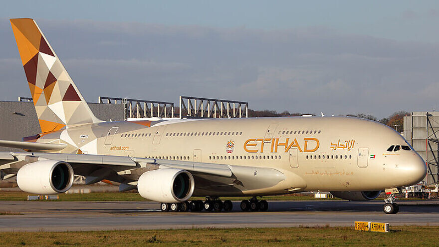 An Etihad Airways Airbus A380-861. Credit: Wikimedia Commons.