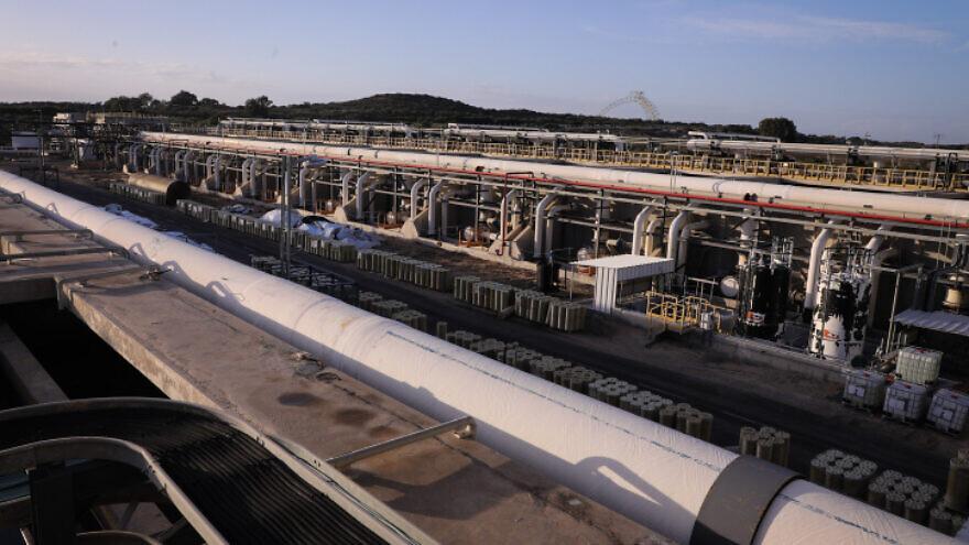 A view of the Sorek desalination plant, on Nov. 22, 2018. Photo by Isaac Harari/Flash90.