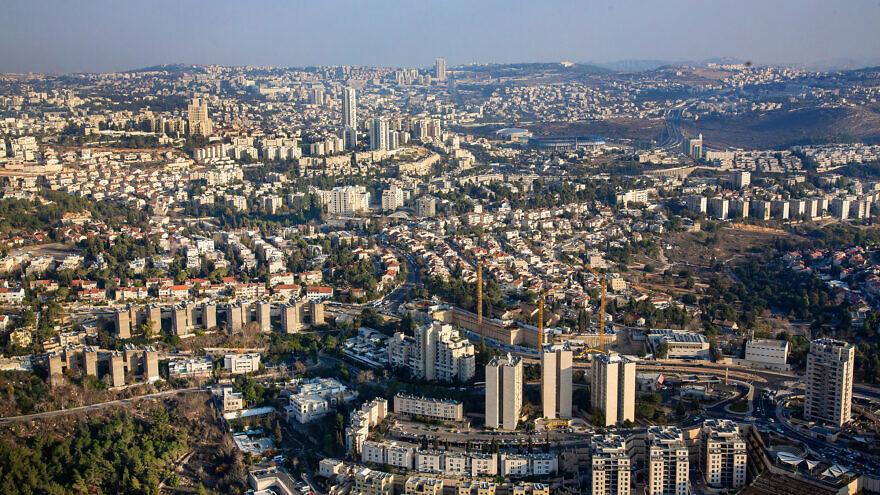 Aerial view of Jerusalem on Dec. 17, 2019. Photo by Moshe Shai/Flash90.