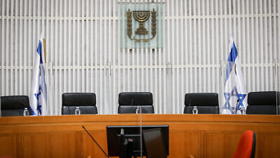 The Israeli Supreme Court in Jerusalem on May 4, 2020. Photo by Oren Ben Hakoon/POOL.