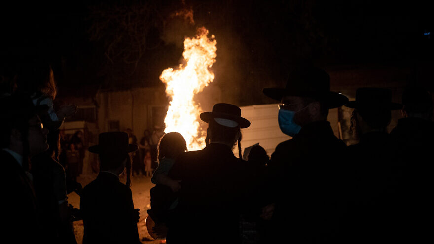 Mea Shearim in Jerusalem on Lag B'Omer, May 11, 2020. Photo by Flash 90.