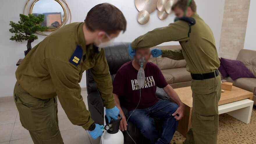 The Israel Defense Forces' elite naval commando unit, Shayetet 13, has been making nonstop deliveries of oxygen cylinders to civilian care facilities that were struggling to get hold of supplies in recent weeks as hospitals raced to stock up on their own oxygen tanks. Credit: IDF Spokesperson's Unit.