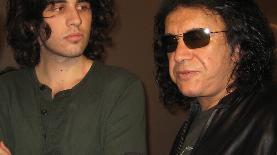 Gene Simmons with his son, Nick. Credit: Wikimedia Commons.
