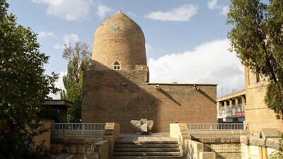 The mausoleum of the biblical Esther and her cousin Mordechai in Hamadan, one of the most important Jewish sites in Iran, May 2002. Credit: Philippe Chavin via Wilimedia Commons.