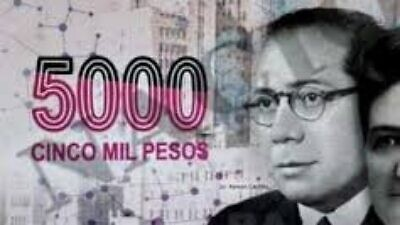 Argentina's new 5,000 pesos bill featuring the controversial Dr. Ramon Carrillo.