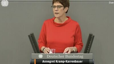 Germany's defense minister, Annegret Kramp-Karrenbauer. Source: Twitter.