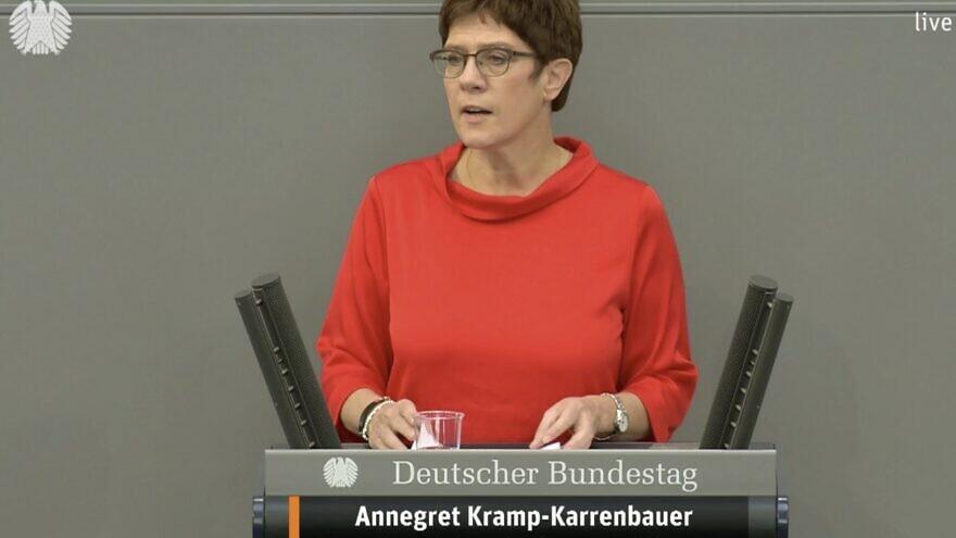 Germany's defense minister, Annegret Kramp-Karrenbauer. Source: Twitter.