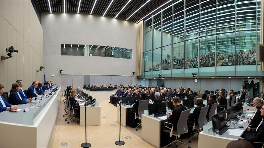 The judges and guests of the International Criminal Court at the opening of the ICC judicial year on Jan. 18, 2019, in The Hague. Credit: International Criminal Court.