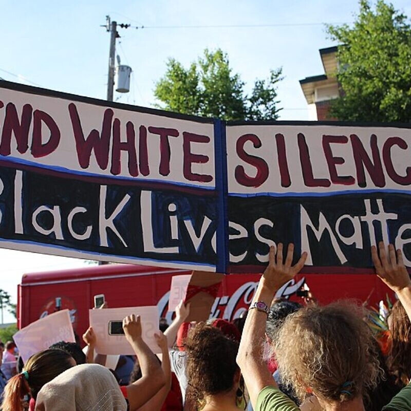 A Black Lives Matter protest in Minneapolis, Minnesota. Photo: Andy Witchger via Wikimedia Commons.