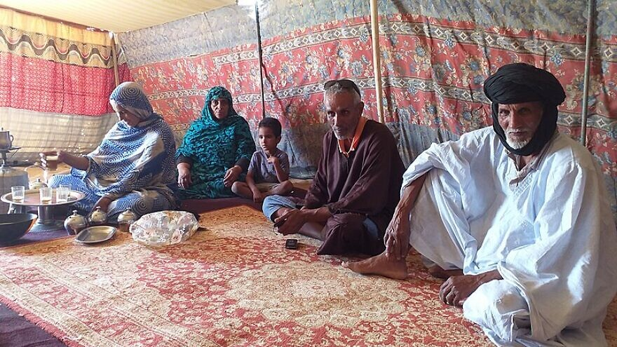Tea is prepared in a shepherds' tent in Mauritania, Feb. 8, 2020. Credit: Wikimedia Commons.