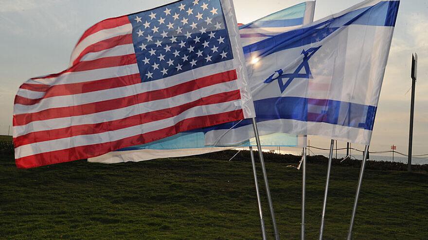 U.S. and Israeli flags. Credit: defenseimagery.mil via Wikimedia Commons.