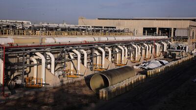 Israel's Sorek Desalination Plant on Nov. 22, 2018. Photo by Isaac Harari/Flash90.