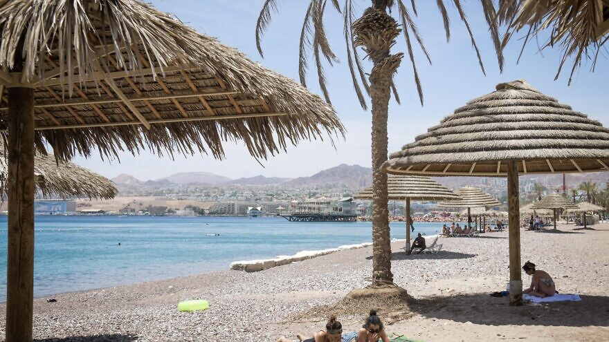 Enjoying at the Red Sea in the southern Israeli city of Eilat on May 13, 2020. Photo by Yossi Zeliger/Flash90.