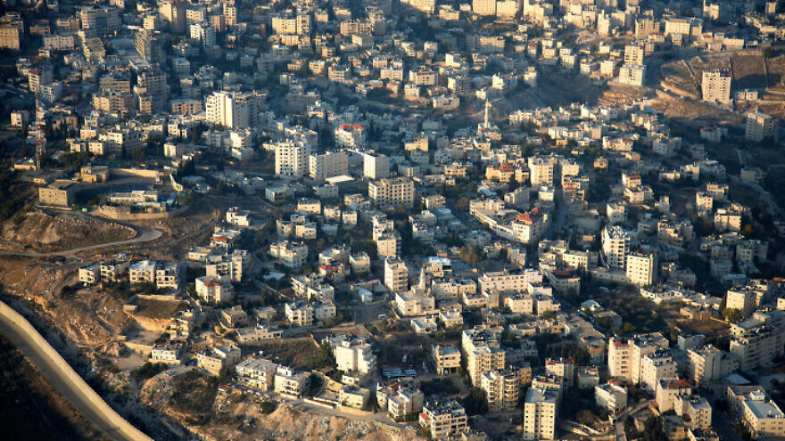 An aerial view of eastern Jerusalem. Dec. 17, 2019. Photo by Moshe Shai/Flash90.