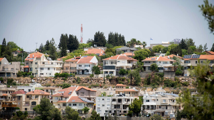 The Jewish town of Karnei Shomron in Judea and Samaria, June 4, 2020. Photo by Sraya Diamant/Flash90.