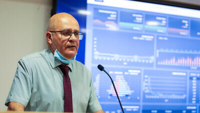 Israeli Health Ministry Director General Hezi Levy speaks during a press conference about the coronavirus, in Jerusalem on June 21, 2020. Photo by Flash90.
