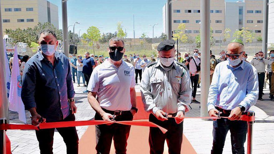 Second from left, FIDF Executive Director in Israel Brig. Gen. (Res.) Effi Idan. Photo Credit: Nir Buxenbaum.