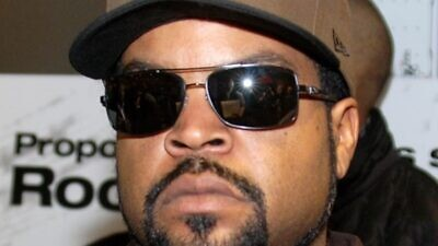"""Rapper and film actor Ice Cube at a screening for """"Ride Along"""" in Chicago, on Jan. 9, 2014. Credit: Adam Bielawski via Wikimedia Commons."""