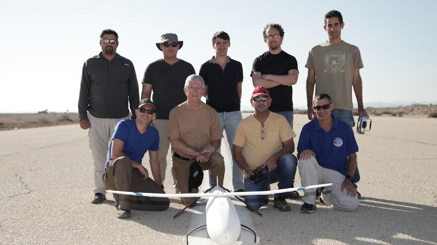 The IAI development team behind the 3D-printed UAV. Credit: Israel Aerospace Industries.