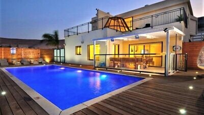 A vacation villa near the Kineret, or Sea of Galilee, in northern Israel. Credit: Courtesy.
