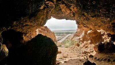 Inside Cave 11, Qumran. Credit: Shai Halevi, Courtesy of Israel Antiquities Authority.