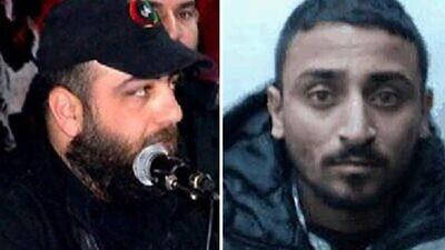 Assad Al-Amali (left) and Muhammad Abu Salah. Credit: Shin Bet.