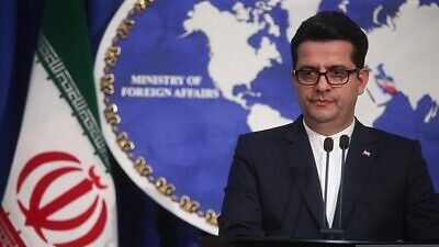 Iranian Foreign Ministry spokesman Seyed Abbas Mousavi attends a press conference with Iranian media agencies, May 28, 2019. Photo: Mehrdad Esfahani via Wikimedia Commons.