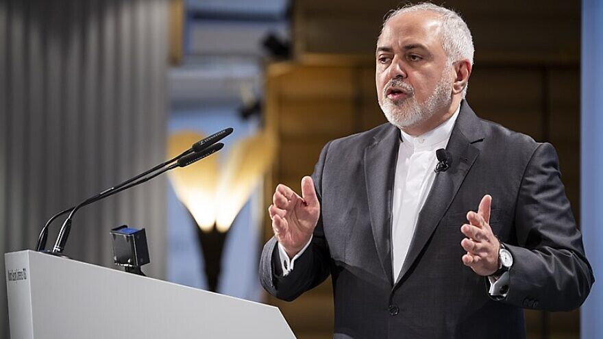 Iranian Foreign Minister Mohammad Javad Zarif speaks at the Munich Security Conference in Munich, Germany, on Feb. 17, 2019. Credit: Balk/MSC via Wikimedia Commons.