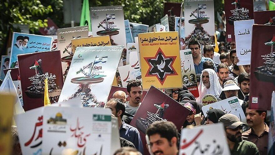 """Quds Day"" protests in Tehran, July 1, 2016. Credit: Meghdad Madadi via Wikimedia Commons."