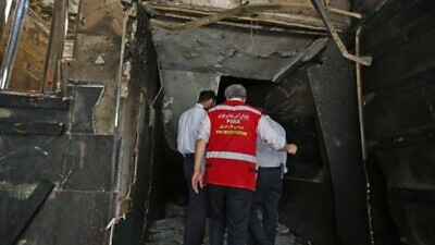 Two people were killed and three injured in an explosion at the Sepahan Bresh factory near Tehran on July 6, 20202. Source: Twitter/Araby.org.
