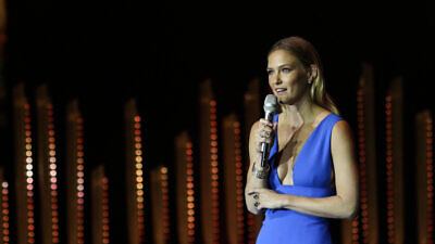 Israeli model Bar Refaeli at the Genesis Award Ceremony at the Jerusalem Theater on June 18, 2015. Credit: Marc Israel Sellem/POOL.