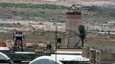 An Egyptian military watchtower, seen from the southern Gaza Strip, on July 2, 2015. Photo by Abed Rahim Khatib/Flash90.