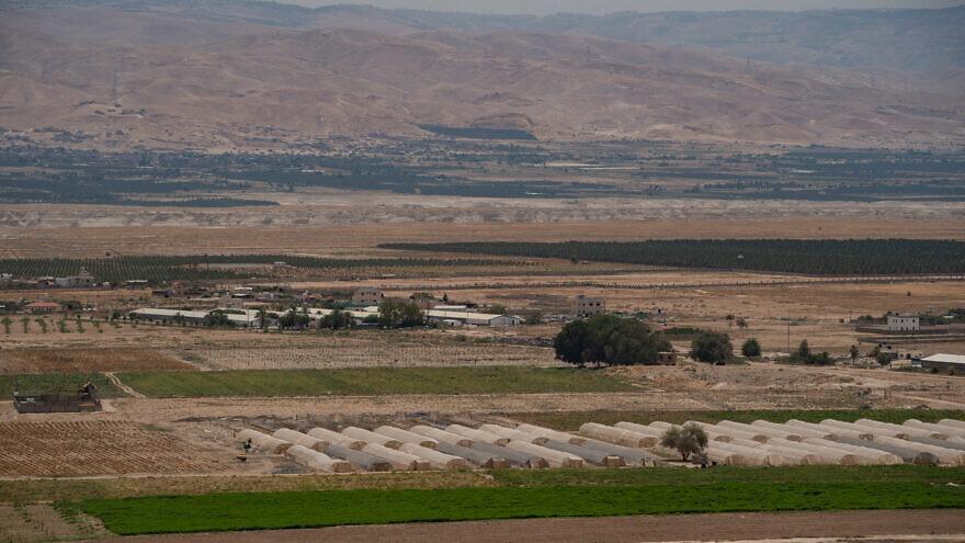 View of the Jordan valley on June 17, 2020. Photo by Yaniv Nadav/Flash90.