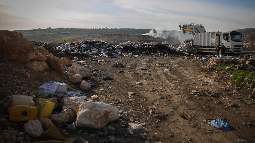 This isn't the first time that garbage has been an issue. Here, dumping outside the Palestinian village of Rammun, Dec. 8, 2014. Photo by Hadas Parush/Flash90.