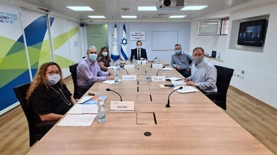 Jewish Agency for Israel chairman Isaac Herzog and other leaders, including those from Italy, France, Argentina and South Africa, hold a briefing about the coronavirus pandemic and its effect on the global Jewish community. Credit: Jewish Agency for Israel.