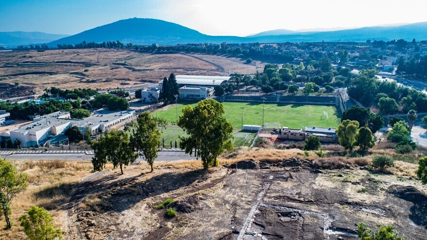 Aerial view of the church remains. Credit: Alex Wiegmann, Israel Antiquities Authority