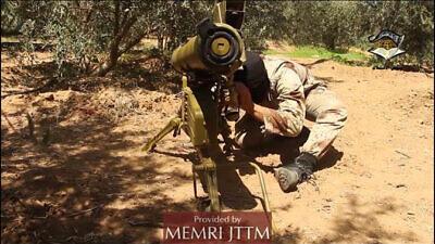 Jaysh Al-Islam member operating an ATGM, Telegram, July 1, 2020. Credit: MEMRI.