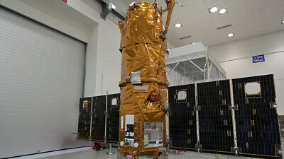 """Israel's """"Ofek 16"""" satellite. Credit: Israel Aerospace Industries."""