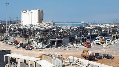 The day after the Aug. 4, 2020 explosions at the Port of Beirut in Lebanon. Credit: Freimut Bahlo via Wikimedia Commons.