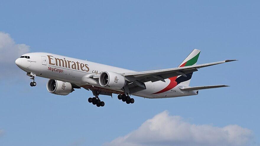 An Emirates SkyCargo Boeing 777F. Credit: Adrian Pingstone/Wikipedia.